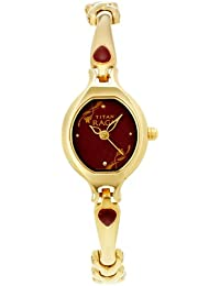 Titan Raga Analog Red Dial Women's Watch -NK2387YM07