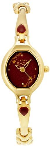 Titan Raga Analog Red Dial Women's Watch-NK2387YM07