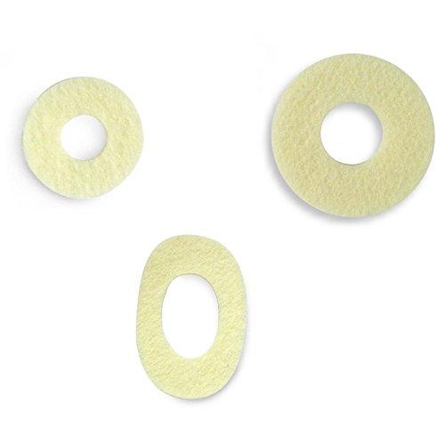 Kosmetex Wollfilz Sortiment 20 Stück Hühneraugen-Ringe, selbstklebende Druckentlastung am Zeh, Filz, Ballen, Set -