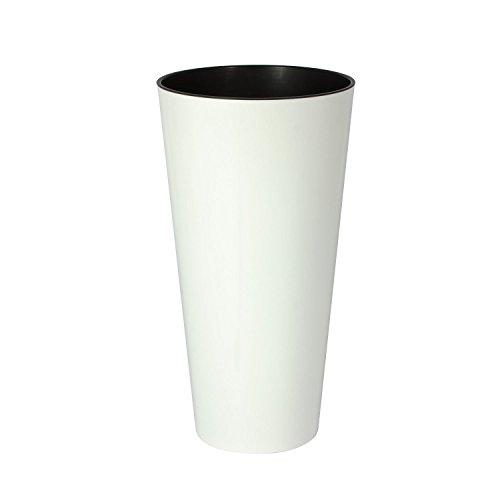 Prosper Plast DTUS150S-S449Tubus Slim Shine Blumentopf–weiß, 15 x 28,6 cm