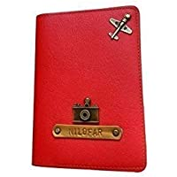 I Love Fashion Red colour Personalised Passport cover