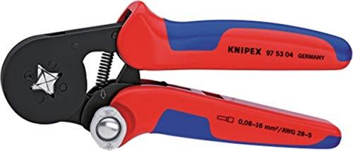 Knipex Selbsteinstellende Crimpzange für Aderendhülsen Aderendhülsen, Vierkant-Crimpung 405 g 0.08.16 mm²