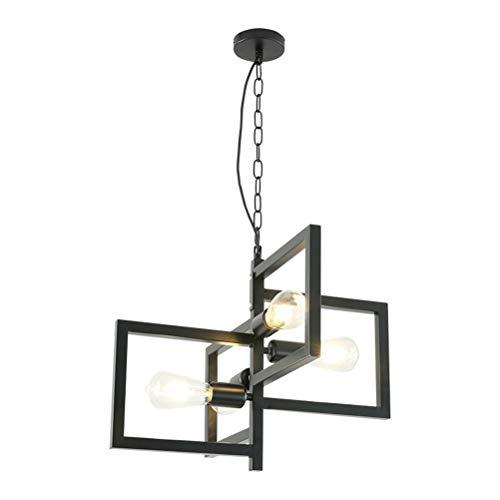 Y.H_Super Retro Hängelampe Wohnzimmer Schwarz Leuchte Kreative Wohnzimmer Deckenbeleuchtung Leiter Art Pendelleuchte -4735