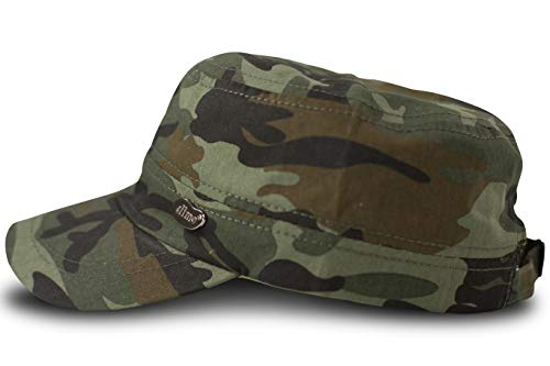 FashionCHIMP Military-Cap mit Stickerei im Fidel Castro Cuba-Look, Army Cap (Woodland)