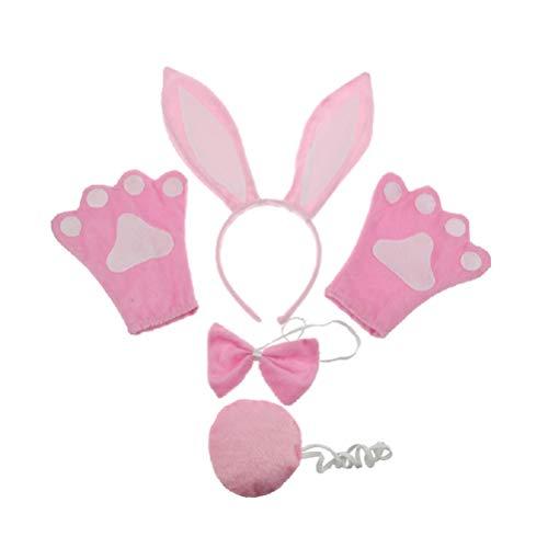Amosfun Kinder Hase Kaninchen Kostüm Kit Ostern