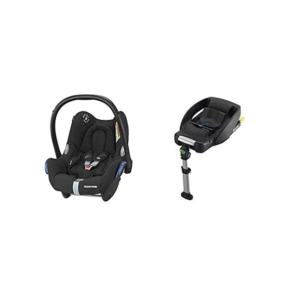 Maxi-Cosi CabrioFix Baby Car Seat Group 0+, ISOFIX, 0-12 Months, 0-13 kg, Frequency Black with Easyfix Car Seat Base, ISOFIX or Belted Installation for CabrioFix, 0-12 m, 0-13 kg Maxi-Cosi Optimal side impact protection: maxi-cost's side protection system technology features in the wings of the car seat to reduce the risk of injury in a side impact collision Click-and-go installation: quick and easy installation with any maxi-cosi base unit Used in combination with the Maxi-Cosi CabrioFix infant car seat 1