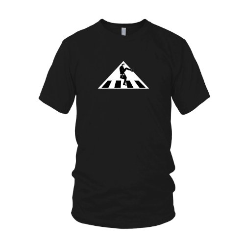 Silly Walks Crossing Sign - Herren T-Shirt Schwarz