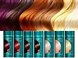 Hair colouring tinting balsam conditioner, colourant tonika Wash Out No AMMONIA 150 ml. RED AMBER