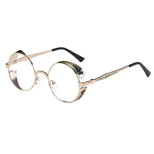 ommer Vintage Retro runde Brillen Sonnenbrillen Mehrfarbig Sonnenbrille (Weiß) (Schwarze Und Weiße Vintage Cat Eye Brille)