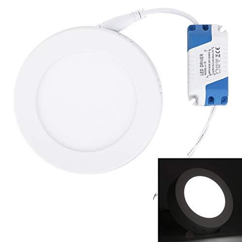 LED-Lampen für Zuhause Weißes Oberflächen-Platten-Licht des Weiß-Licht-Quadrat-LED mit LED-Fahrer, 12cm 30 LED SMD 2835 6500K, Wechselstrom 85-265V Glühbirnen ( Großauswahl : 6w white light )