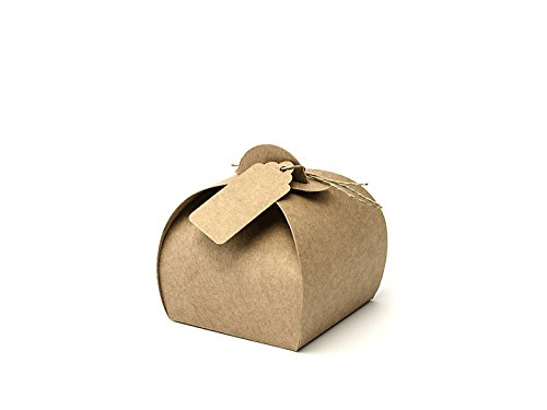 Geschenkschachtel rundlich 10 Stück (natur)