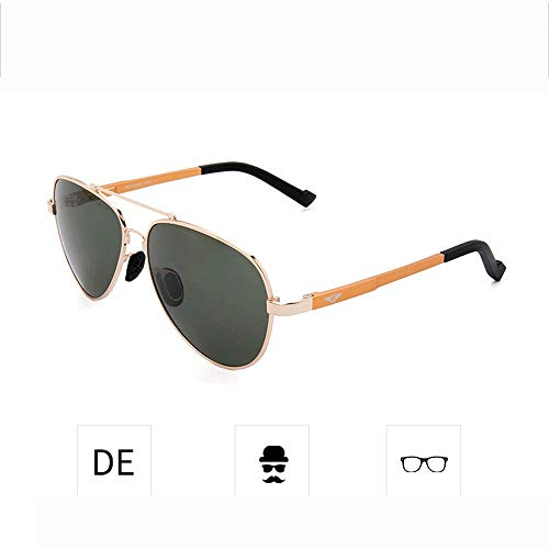 Yiph-Sunglass Sonnenbrillen Mode Sonnenbrille Aviator Classic Polarized Sports 100% UV-Schutz für Männer oder Frauen (Farbe : Grün, Größe : Casual Size) (Oakleys Aviators)