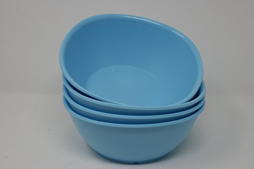 TUPPERWARE Legacy Pinch Müslischalen 3 Tassen/700 ml Set 4 blau NEU Pinch Bowl Set