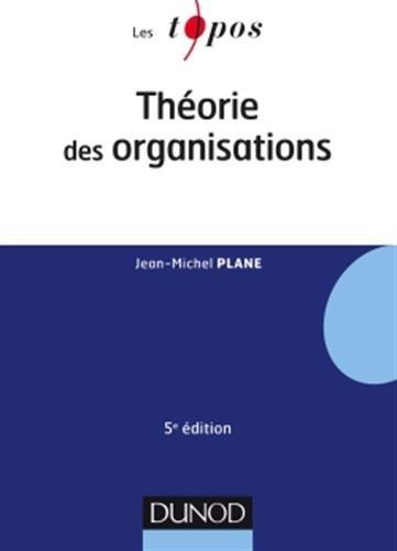 Thorie des organisations - 5e d.