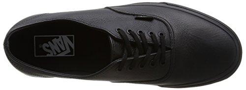 Vans U Authentic Decon Leather, Baskets Basses Mixte Adulte Noir (Black/Black)