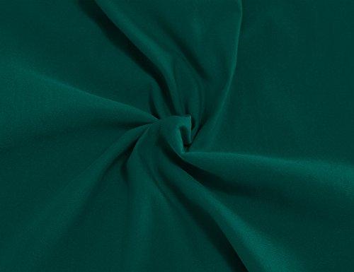 MUXXN Damen 1950's Retro Rundhals Kurzarm Abend Bleistift kleid Vintage Kleider Partikleid Business Kleid(M, Deep Green) -