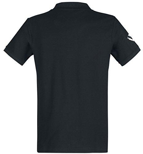 Powerwolf Logo Polo-Shirt Schwarz Schwarz