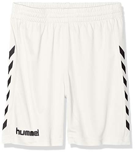 hummel Jungen Sporthose kurz-CORE Poly Shorts-Trainingshose Herren hohe Bewegungsfreiheit-Laufshorts atmungsaktiv in Schwarz-Funktionshose, White Pr, 116-128