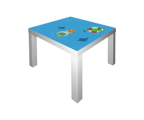 Unterwasserwelt Möbelsticker / Aufkleber für den Tisch LACK von IKEA - IM33 (Fisch-spiel-tisch)