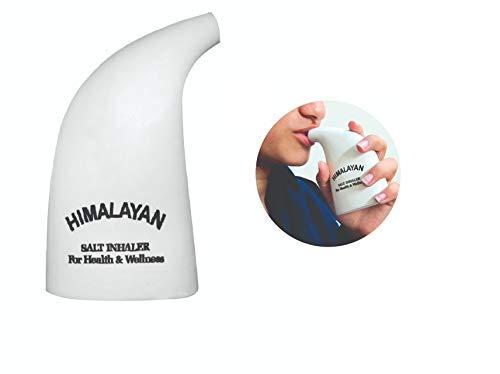 Himalaya-Salz-Inhalator, handliche Größe, inkl. 100g reines, rosanes Himalaya-Kristallsalz, nachfüllbar, natürliche Reinigung der Atemwege und Therapie bei Asthma, Allergien und Atembeschwerden - Therapie Salz Natürliche