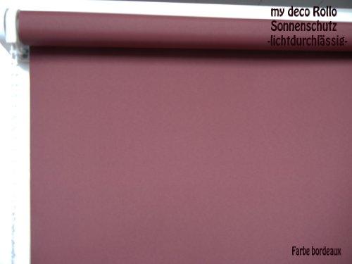 original mydeco Sonnenschutzrollo , Rollo , Kettenzugrollo 160 cm breit , 175 cm hoch, Farbe bordeaux , mit Kettenzug, wahlweise links oder rechts