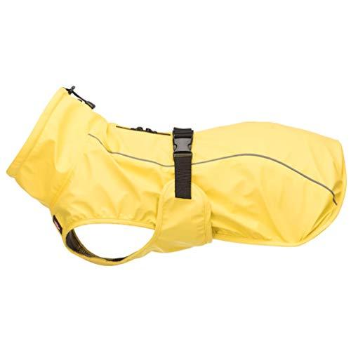 TRIXIE Hunderegenmantel L 55cm Gelb Regenjacke Regenmantel Regenschutz Hunde