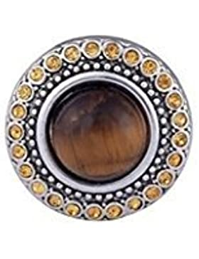 Andante CHUNK Click-Button Druckknopf (Auge Braun) für Chunk-Armbänder, Chunk-Ringe, Chunk-Schlüsselanhänger und...