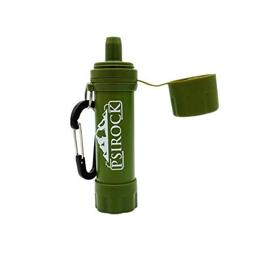 Filtro potabilizador de agua portátil | No necesita pastillas potabilizadoras de agua Bushcraft VIVAC Filtro purificador de agua Supervivencia accesorios Filtro de agua personal mini regalo montaña