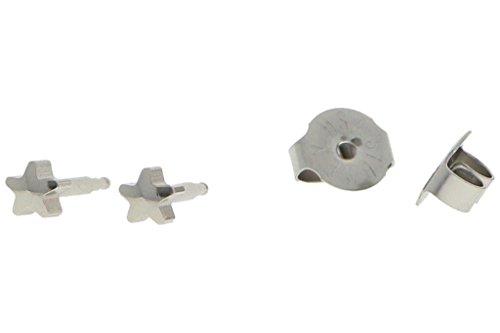 puregrey Estrella Erst Pendientes Pendientes Joyas Pendientes Diámetro 4mm Acero Inoxidable 100% estériles