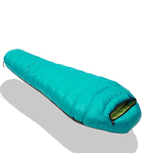 TAHRH Schlafsack Erwachsene,Daunenschlafsäcke, Camping im Freien, Spleißen für Erwachsene, alle Jahreszeiten können @ 1800g_White_Goose_down_Green verwendet Werden -