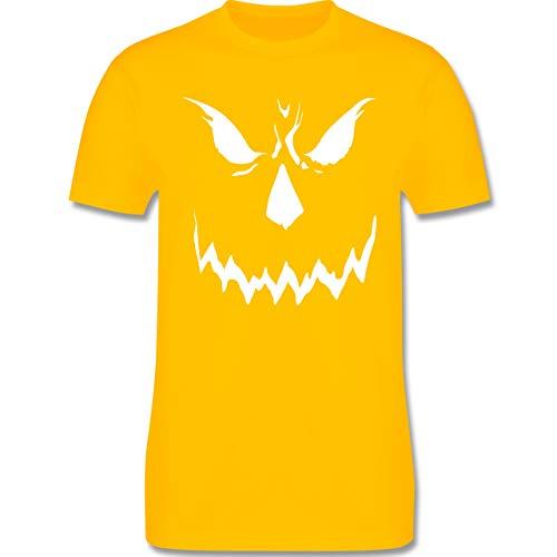 Halloween - Scary Smile Halloween Kostüm - XL - Gelb - L190 - Herren T-Shirt Rundhals