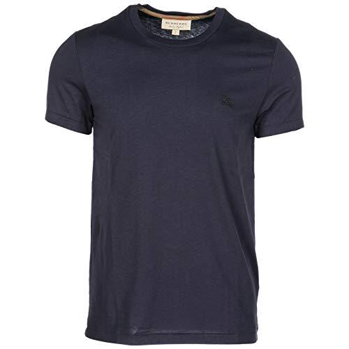 BURBERRY Herren T-Shirt Kurzarm Kurzarmshirt runder Kragen blu EU S (UK S) 40618181