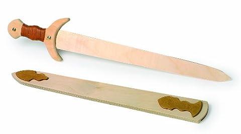 """Small Foot by Legler Holzschwert """"Wikinger"""" mit Schwert und Scheide"""