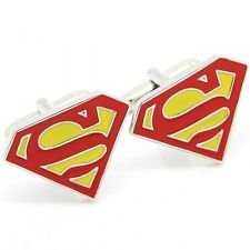 NuoYa005 Manschettenknöpfe Superman Herren Shirt für High end French Manschettenknöpfe für Bräutigam, in Geschenkbox