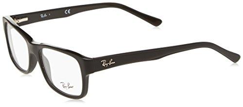 RAYBAN Unisex-Erwachsene Brillengestell RX5268, Schwarz (Matte Black), 52