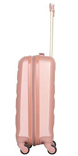319MrUdfy9L - Aerolite - Súper liviano, 3 piezas, equipaje de viaje rígido, maleta de viaje, con 4 ruedas (3 piezas, oro rosa)
