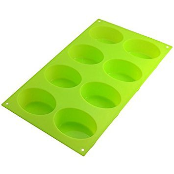 8-Oval Silicone Mold Soap Moulds Chocolate Muffin Cupcake Bakeware Backing Pan by CTT