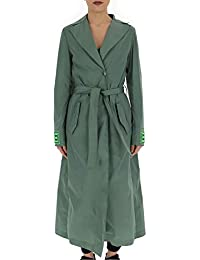 OFF-WHITE OWEA165R19A390624310 Mujer Verde Viscosa Abrigo