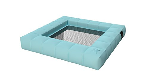 Pigro Felice 921991-AZURBLUE Modul'Air Luxe Hamac Gonflable Simple PVC Bleu Ciel 130 x 130 x 18 cm