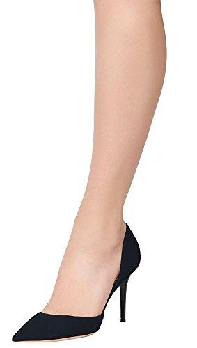 Guoar - Scarpe chiuse Donna (Dunkelblau Samt)