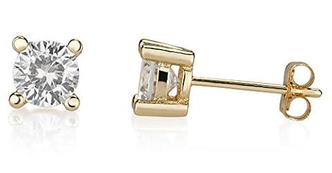 Retorica Cubic Zirconia Crystal Earrings - 18K Gold-Plated Stud Crystal