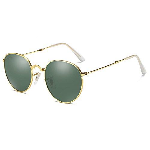 YZCX Faltbare Mode Sonnenbrille Brille Polarisierte Metall Rahmen Unisex Gläser UV400 Objektiv