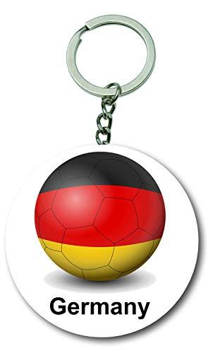 Flaschenöffner Tasche Auf Der Vorderseite (Gifts & Gadgets Co. Schlüsselanhänger, Motiv Deutsche Flagge auf Fußball-Flaschenöffner, 58 mm, rund, Schlüsselanhänger)