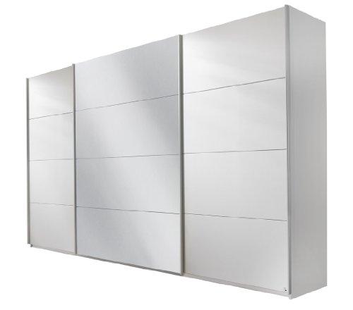 Rauch Schwebetürenschrank mit Spiegel 3-türig Weiß Alpin, BxHxT 315x210x62 cm
