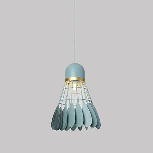 Creative Badminton Lustre Simple Moderne Restaurant Lumières Allée Lumière Bar Table Lampe Chaude Chambre Lustre De Chevet ZHJING (Couleur : Green, Taille : 24 * 32CM)