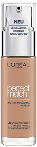 L\'Oréal Paris Perfect Match Foundation, flüssiges Make-Up, deckend und feuchtigkeitsspendend für einen natürlichen Teint - 5D/5W golden sand (30 ml)