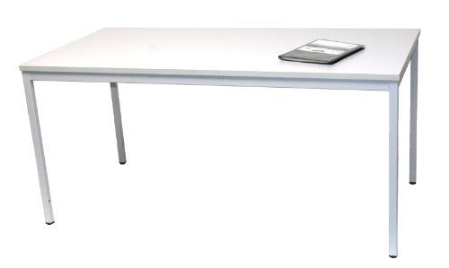Schreibtisch (Stahl) LxB: 180x80 cm, lichtgrau, Marke: Szagato (Arbeitstisch, Computertisch, Bürotisch, Druckertisch)