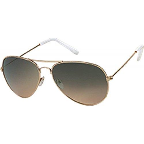 Chic-Net Hochwertige Sonnenbrille Pilotenbrille 400 UV Getönt Grün Rosa Lila Braun Metallgestell Grün
