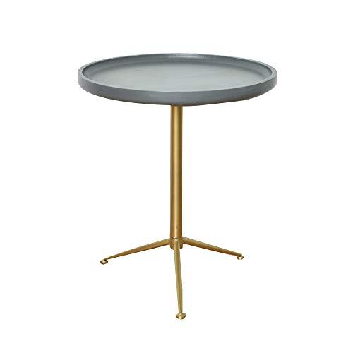 DEO Taille moderne de couleur de ciment 2 d'imitation de support latéral de table de bout de table d'appoint de côté de sofa rond (taille : 49 * 56CM)
