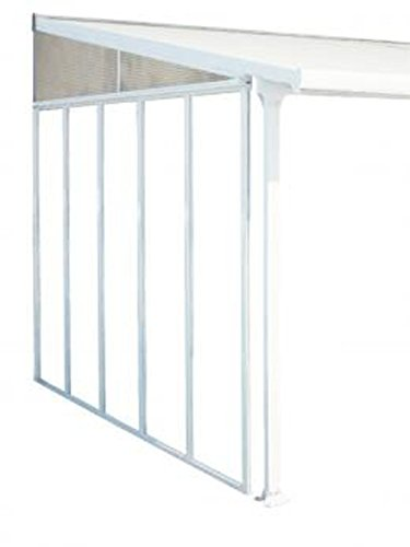 PEGANE Panneau Latéral pour Couv'Terrasse 3 m Blanc, 264 x 3,4 x 260 cm